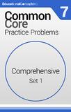 Common Core Practice Problems Grade 7 Comprehensive Pretes
