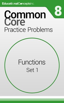 Common Core Practice Problems Grade 8 Functions Set 1