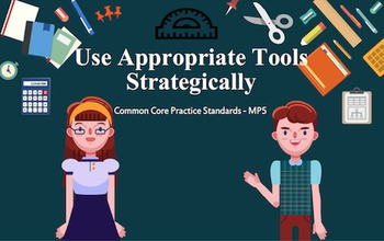 FREE! Common Core Mathematical Practice MP5 (Math Tools) Infographic Poster