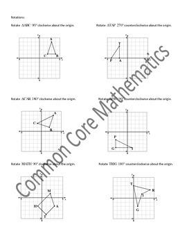 Common Core Pre Algebra 8th Grade Unit