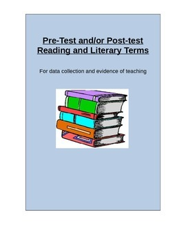 Common Core Pre-Post Test of Reading Terms and Strategies