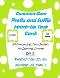 Common Core Prefix & Suffix Match Task Cards 2 -er, ness,