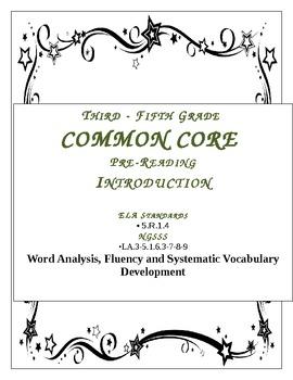 Common Core  Prefix, Suffix in Context Clue Reading Passage