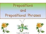 {Common Core} Prepositions/Prep Phrases, Task Cards, Poem,