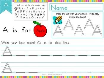 Handwriting Sample - Capital A