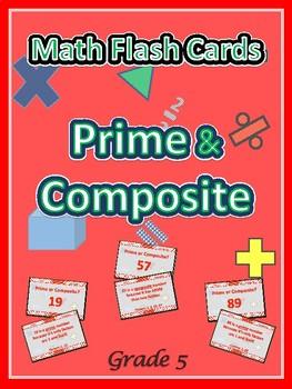 Common Core Prime & Composite Flash Cards / 5th Grade PSSA / Grade 5 / Grade 4