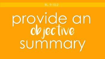 Common Core Printable Posters (Reading Literature 9-10)
