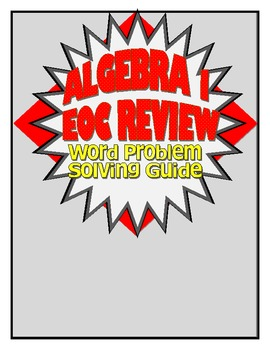 Common Core Problem Solving Guide for Algebra I/ Integrated I