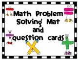 Common Core Problem Solving Mat and Question Cards