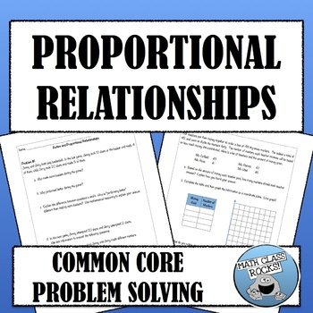 Common Core Problem Solving - Proportional Relationships