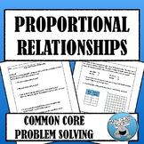 COMMON CORE PROBLEM-SOLVING: PROPORTIONAL RELATIONSHIPS  (COMPLETE PROBLEM SET)