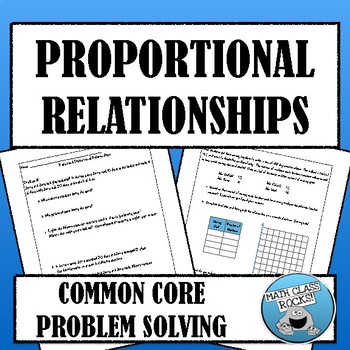 COMMON CORE PROBLEM-SOLVING: PROPORTIONAL RELATIONSHIPS  (COMPLETE PROBLEM SET)