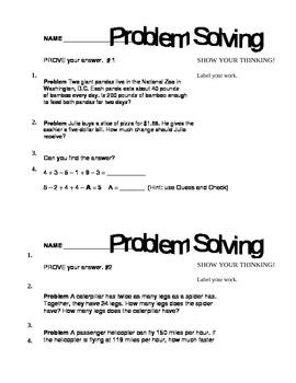 Common Core Problem Solving by the Dozen.