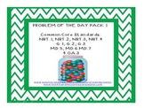 Common Core Problem of the Day Pack 1 {45 Word Problems + SMARTboard File}