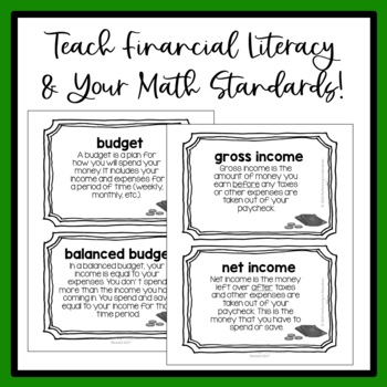 5th Grade Math Project Based Learning: Create a Personal Budget