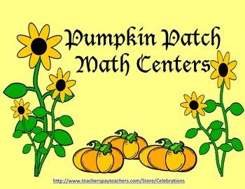 SALE-Common Core Pumpkin  Patch Math Centers