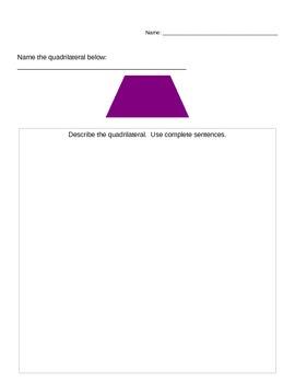Common Core Quadrilaterals Evaluation