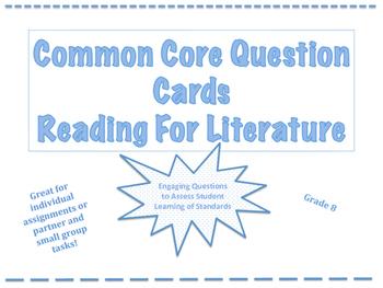 Common Core Question Cards Reading for Literature Grade 8