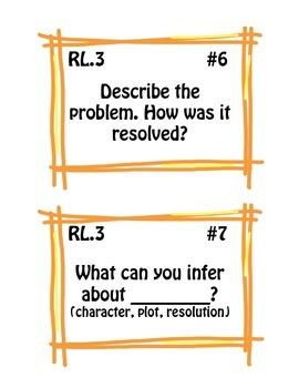 Common Core Question Stem Prompt Cards