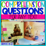 Text Dependent Question Stem Sticky Notes: K-2 Reading Sta