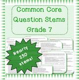 Common Core question stems for grade 7