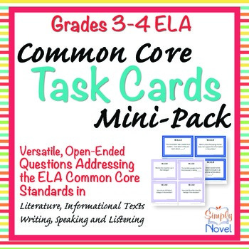 Common Core Question Stems Task Cards Mini-Pack {FREE} - G