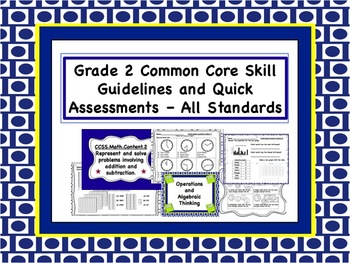 Common Core Quick Math Assessments - Grade 2