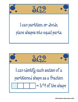 Common Core Quick Reference/Cards Math: No. & Operations Base Ten and Geometry
