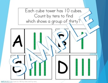 Common Core Quick and Easy Assessments (using Plickers)-Counting by 10s