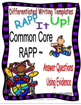 RAPP Writing ~ Answering Questions Using Evidence