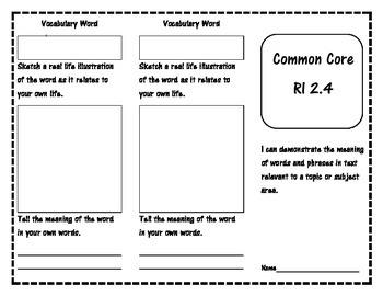 Common Core RI 2.4 Reading Trifold