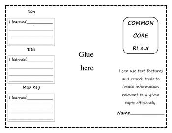 Common Core RI 3.5 Trifold & Foldable