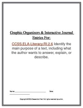 Common Core RI.2.6: Graphic Organizers & Interactive Journ