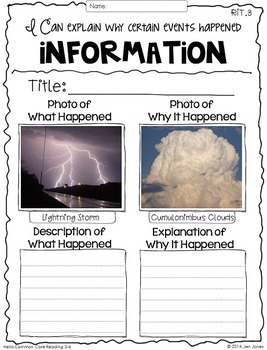 Common Core RIT: Reading Comprehension Sheets for 3-6 Informational Standards