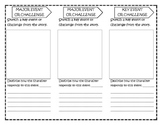 Common Core RL 2.3 Foldable