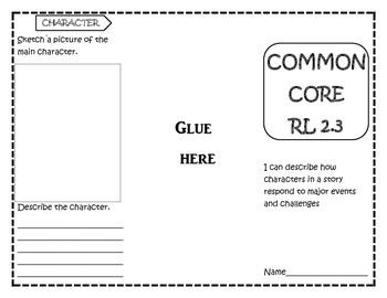 Common Core RL 2.3 Foldable