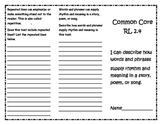 Common Core RL 2.4 Trifold