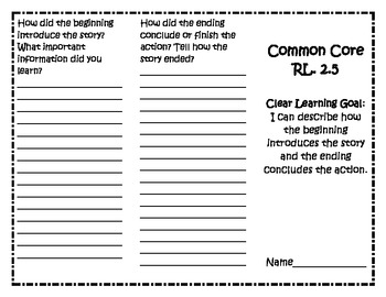 Common Core RL 2.5 Trifold