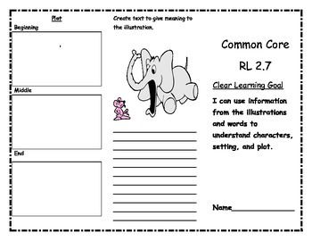 Common Core RL 2.7 Reading Trifold