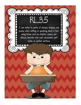 Common Core RL.3.5 Building Text