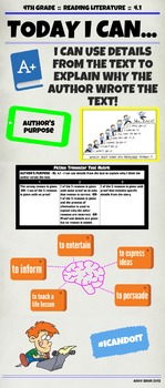Common Core RL 4.1 I Can Poster