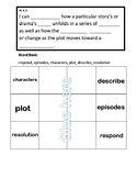 Common Core RL 6.3 Foldable for Interactive Notebooks
