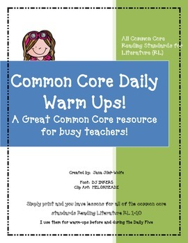 Common Core RL Warm ups