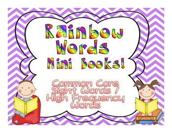 Common Core Rainbow Words DOLCH Mini-Books Companion{High Frequency/Sight Words}