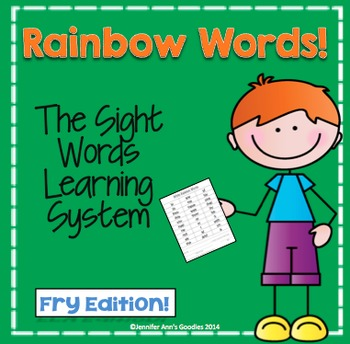Sight Words Learning System!