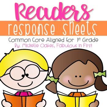 Common Core Reader's Response Sheets: Grade 1