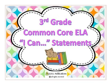 """Common Core Reading 3 """"I Can"""" Posters/ Clip Art"""