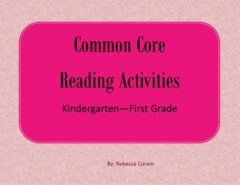 Common Core Reading Activities