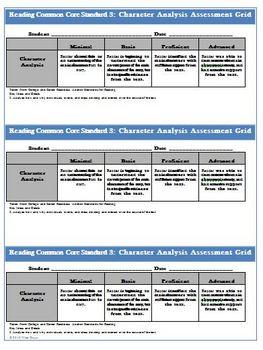 Character reading worksheet