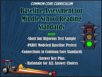 Common Core Reading Baseline Test and Scoring Guide